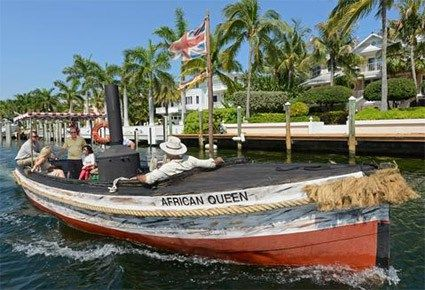 Take a cruise or dinner cruise on the African Queen in Key Largo, Florida  (Actual restored boat from movie!)