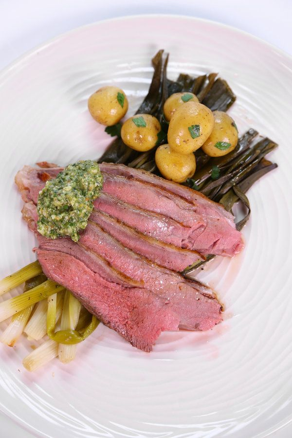 ... | Mario Batali's Grilled Butterflied Leg Of Lamb With Mint Pesto