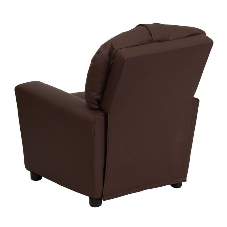 Childu0027s Recliner Overstuffed Padding For Comfort Easy To Clean With Damp  Cloth Cup Holder In Armrest