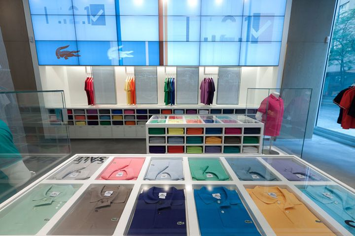 Lacoste flagship store by Design Republic Partners, New York fashion