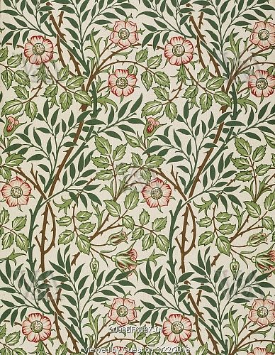 Sweet Briar wallpaper, by John Henry Dearle. England, 1912