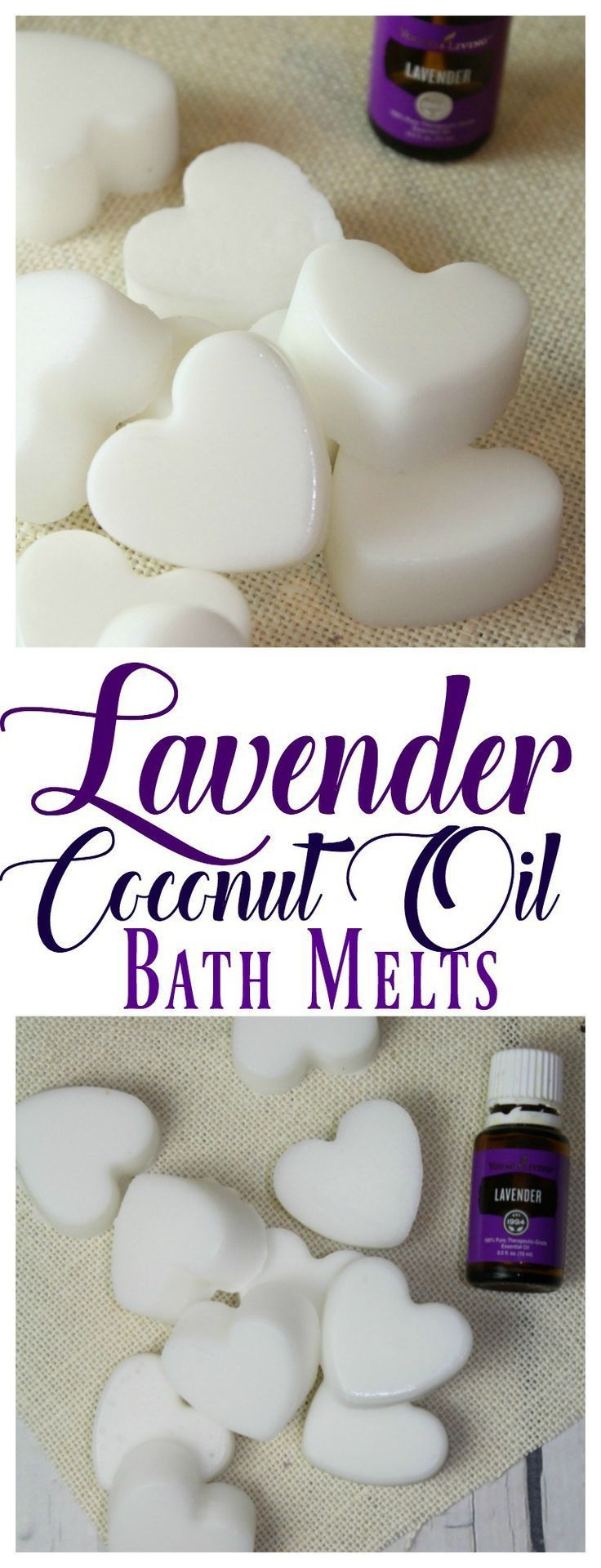 These Lavender Coconut Oil Bath Melts are an easy, and inexpensive way to moisturize dry skin.