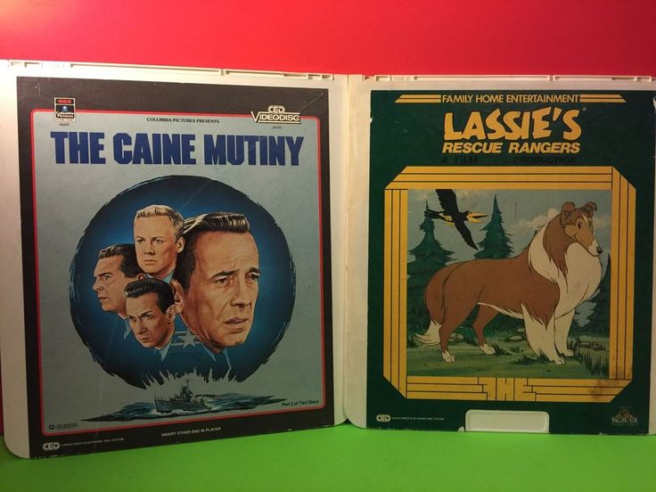 Lot Of 2 Vintage VideoDisc Lassie's Rescue Rangers And The Caine Mutiny