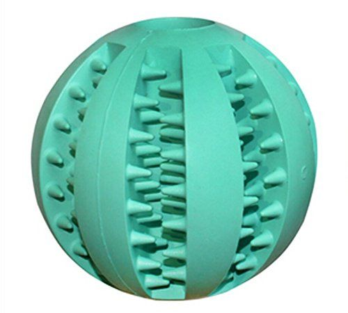 Dual Pet Dog Toy Balls Nontoxic Bite Resistant Rubber Balls Tooth Cleaning Ball Chew Training Ball Toy 2.8 InchMint