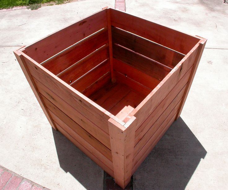 3x3x3 Redwood Planters | Garden Craftsman. Compost Bins. Planter Boxes. Custom Built for Beautiful Gardens.Garden Craftsman. Compost Bins. Planter Boxes. Custom Built for Beautiful Gardens.