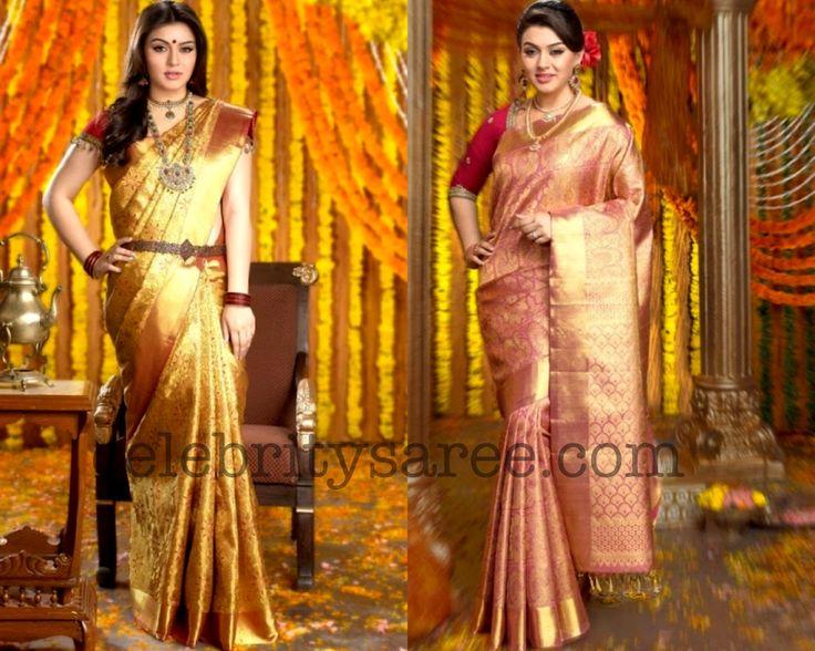 South Indian Sarees | Hansika Bridal Silk Saree - Chennai Silks Ad | Saree Blouse Patterns