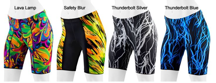 Women's Wild Print Padded Cycling Shorts have an anti-chafe chamois pad and an anatomically designed fit for comfort while cycling or spinning.