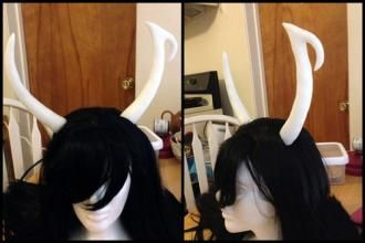 InstaMorph horns: Cosplay Help, Cosplay Witch Tutorials, Cosplaycostum Tutorials, Cosplay Crosplay, Cosplay Homestuck, Horns Tutorials, Cosplay Costumes Tutorials, Cosplay Armors, Cosplay Tutorials