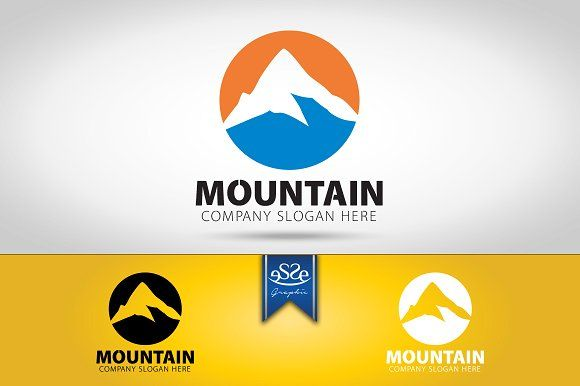 Mountain Logo by eSSeGraphic on @creativemarket