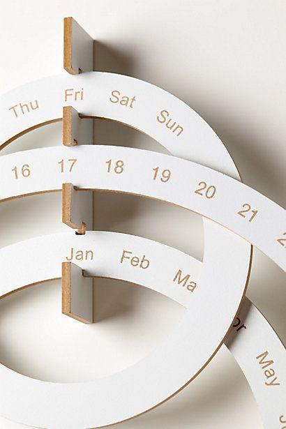 $98 Anthropologie Perpetual Ring Calendar