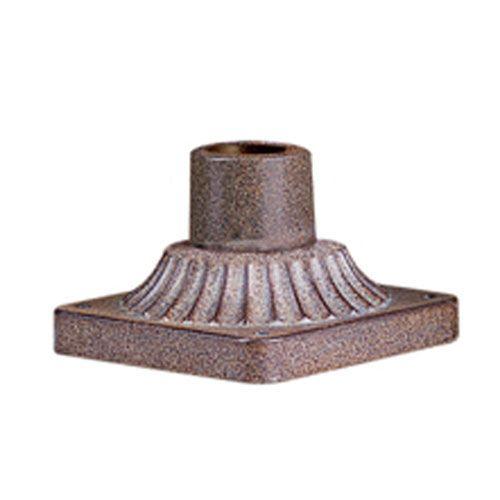 Statuary Bronze Square Base Deco Detail Pier Mount - (In Statuary Bronze)