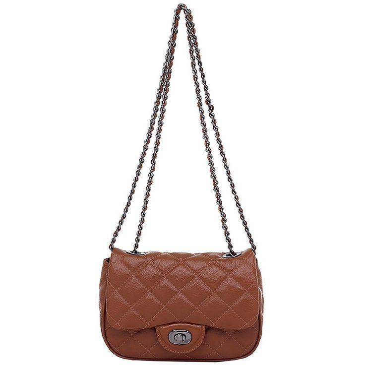 Bolsinha Smartbag Couro Matelassê Whisky - 72150.17 (Smartbag - R$379,90)