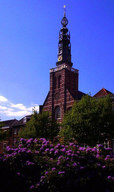 Church of St. Louis (Lodewijskerk)-Despite the occasional respite at the Burcht, the Pilgrims' life in Leiden was principally one of long, hard labor, much of it at the looms, where they wove various fabrics—linen, fustian, serge, wool cloth—that made the city rich.