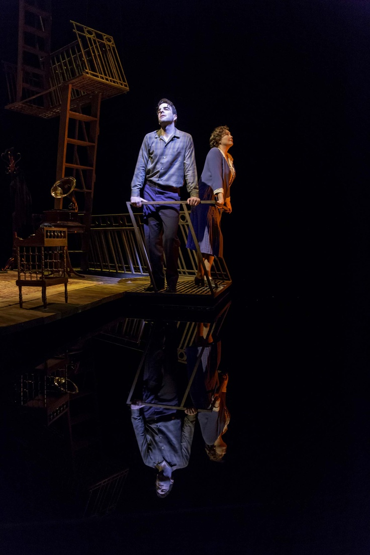 THE GLASS MENAGERIE with Zachary Quinto and Cherry Jones; Photo by Michael J Lutch.....This set design is PERFECT