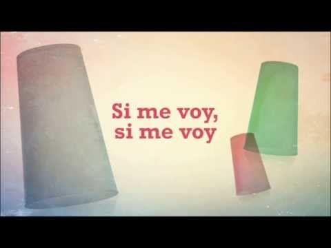 ▶ 'Si Me Voy' (Cups) - Lyric vídeo - Paula Rojo & The Wild Horses - YouTube