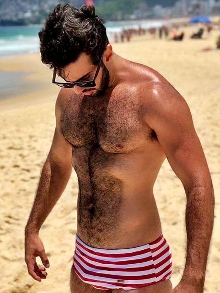 Hairy Man Beach Stock Footage Royalty Free Stock Pics