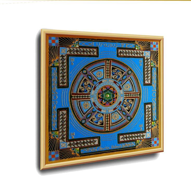 """URANUS – Energetische Kunst von Art-Heil-Studio: Dr. Mariia Bohach. Eine Reihe von """"Astrologischen Yantras"""" – Art-Heil-Studio: MariRich"""