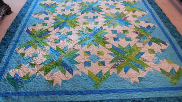 Customer's Turquoise Quilt – Sewgrateful Quilts