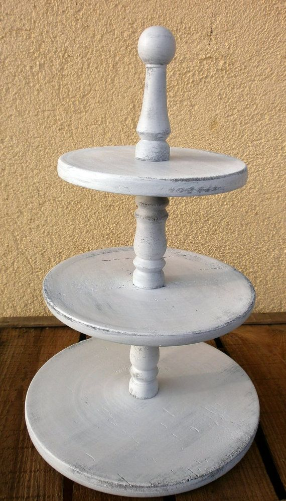 vintage white wedding cupcake stand 3 tier by