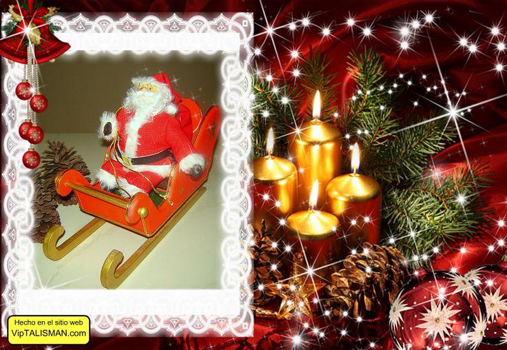 Santa claus elaborado en tela con rostro en masa flexible, trineo de mdf, producto 100 % artesanal