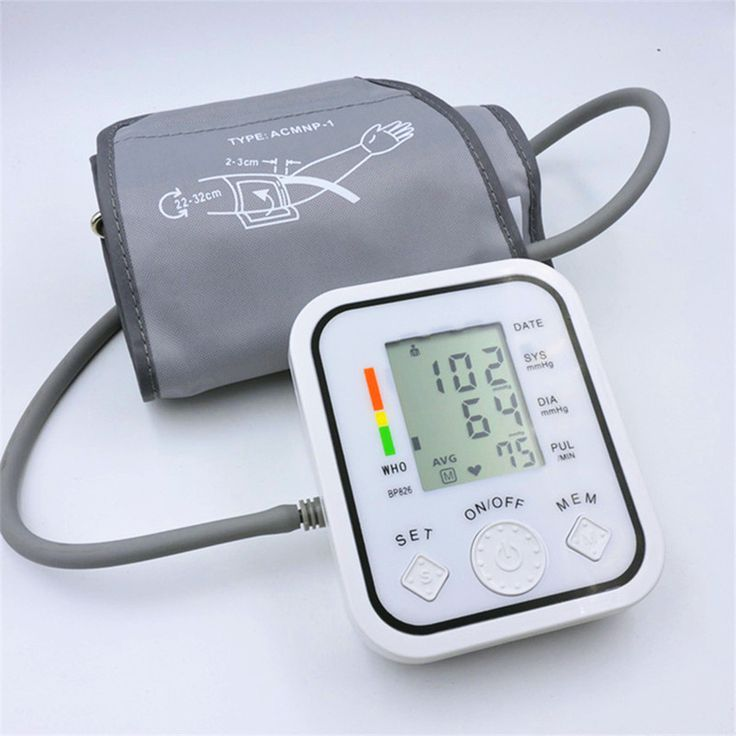Penuh otomatis lengan atas tekanan darah Monitor bp digital elektronik sphygmomanometer tonometer Pulse heart rate monitor
