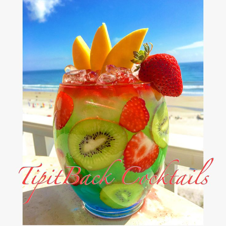 Twisted~Mermaid Rum Bowl⚓️   1.5 oz Blue Curaçao  1 oz Coconut Rum 1 oz Strawberry Rum 1 oz Pineapple Rum 1 oz Mango Rum 1 oz Banana Rum 1 oz Passion Fruit Rum  1.5 oz Orange Juice 2 oz Passion Fruit Juice Splash of cranberry juice  *In large bowl or bucket, build over ice in the order listed above. Garnish with strawberry, kiwi, and mango slices. Enjoy!*