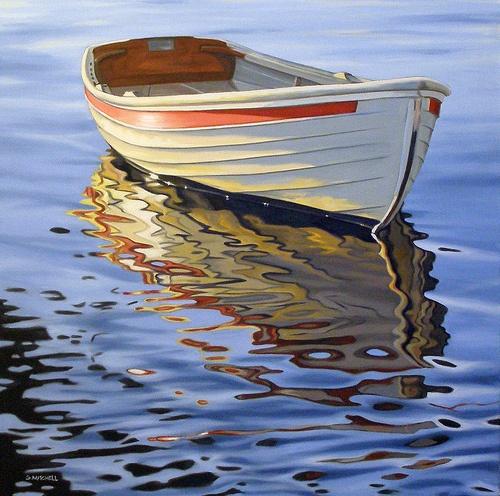 Golden Evening  30x30 SOLD www.argylefineart.com