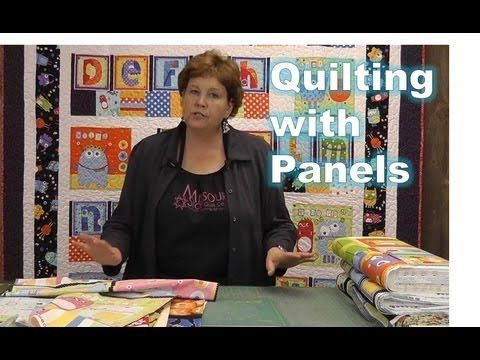 http://missouriquiltco.com -- Jenny Doan gives some simple ideas around how to use panels with precut fabrics.    To check out our panel selection go to:  http://www.missouriquiltco.com/shop/browse/223    The line featured in this tutorial is Googlies by Michele D'Amore for Benartex Fabrics.  Check it out here: http://www.missouriquiltco.com/shop/bro...