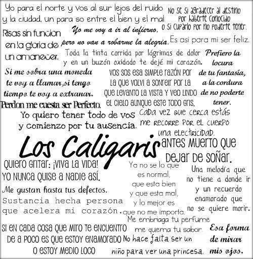 Frases de caligariss