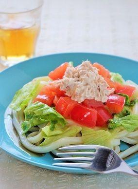 ツナとトマトの冷製うどん|レシピブログ