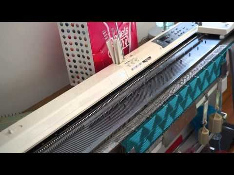 This is the machine I want next! - Faux Cable for Knitting Machines super simple - YouTube