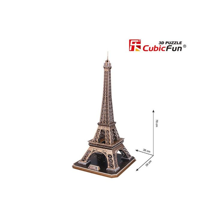 Cubic Fun Eiffel Tower - The Eiffel Tower is a wrought iron lattice tower on the Champ de Mars in Paris, France. It is named after the engineer Gustave Eiffel, whose company designed and built the tower