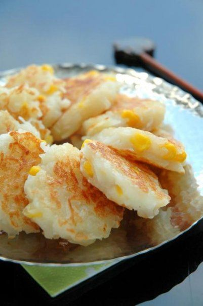 Bonbini!: Thai style coconut pancakes with corn