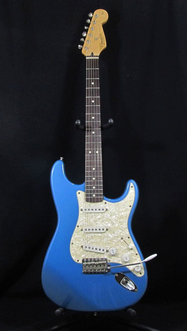 For sale, we have a Used 90s Fender Mexican Stratocaster Electric Guitar. This guitar has had a full setup and plays wonderfully. It comes with vintage style tuners, maple neck, rosewood fretboard, and an alder body.