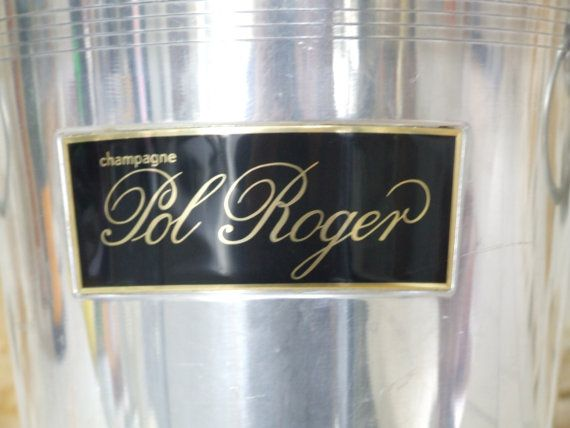 Pol Roger Champagne Ice Bucket // by VintageRetroOddities on Etsy