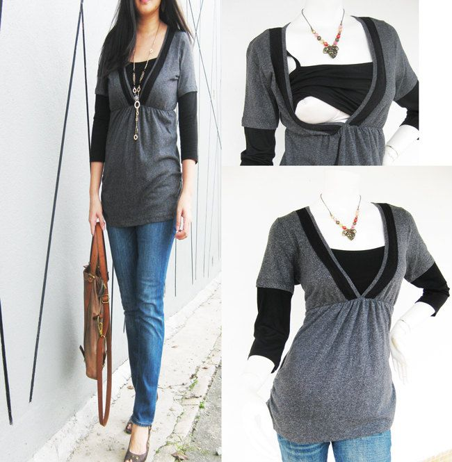 LACEY Maternity Clothing/ Nursing Tops by ModernMummyMaternity