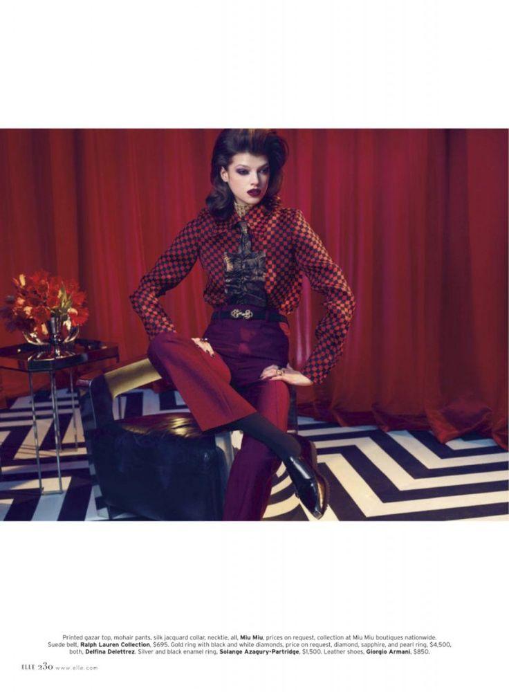 Elle magazine Twin Peaks photo shoot (3)