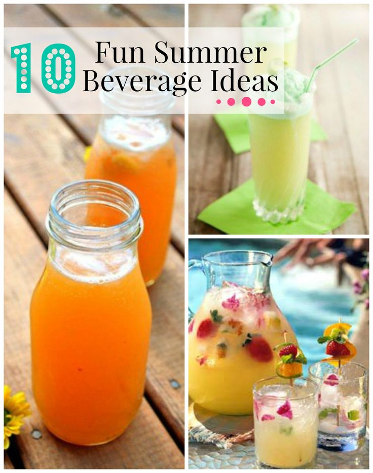 10 Fun Summer Beverage Ideas (summer beverages)