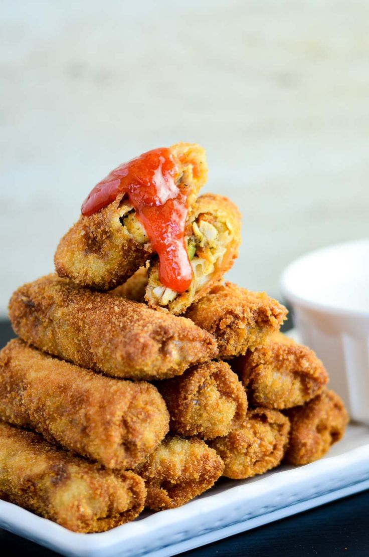 Risoles Indonesia Croquette, filled with chicken and potato, rolled in breadcrumbs
