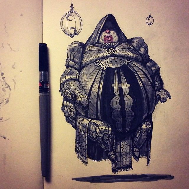 #inktober Baron Harkonnen. And that's a wrap on inktober 2014, lil late but whatevs. It's been a blast <3