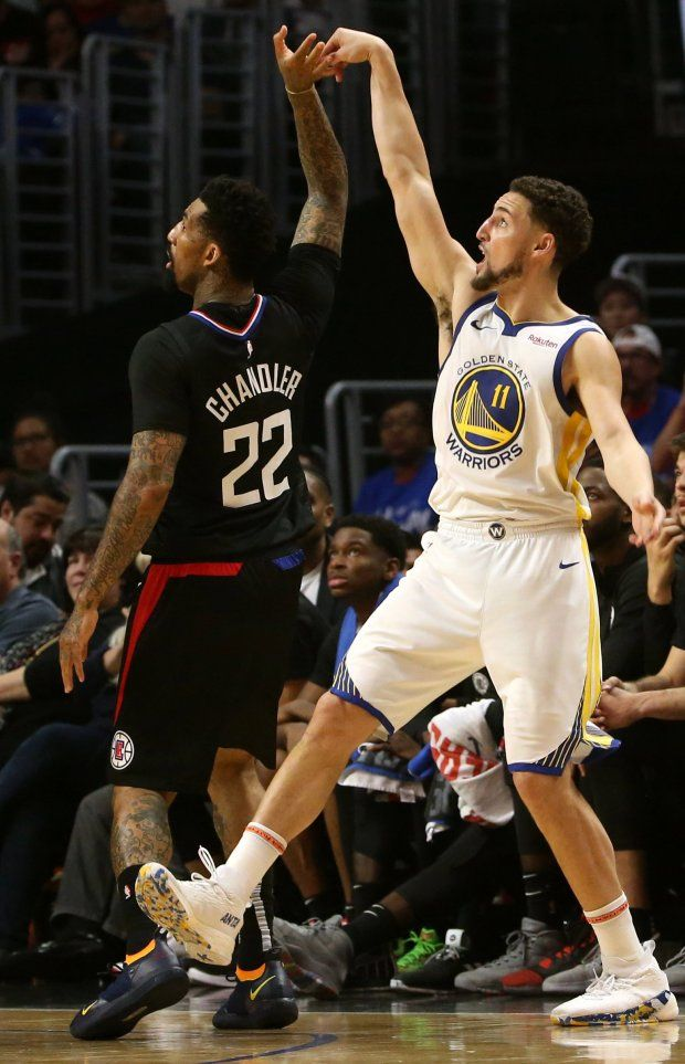 Photos Golden State Warriors Klay Thompson 32 Points Carry Them To Win Over The Los Angeles Clippers Klay Thompson Los Angeles Clippers Golden State Warriors