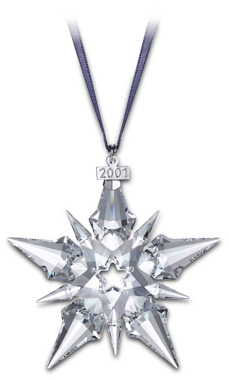 Swarovski 2000 Christmas Ornament Part - 38: 2001 - STAR - Large Star Only - Blue Ribbon. Christmas StarsChristmas  DecoXmas OrnamentsSwarovski ...