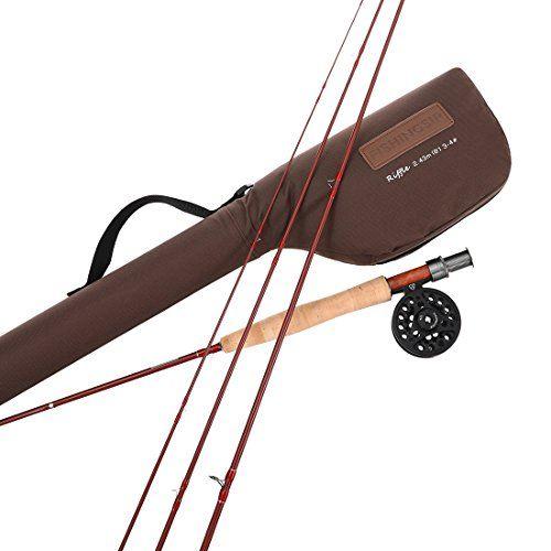 Comprar carrete de mosca Equipamiento completo para pesca con mosca pescadores Combo Kit Rod y carrete de mosca agua salada o agua dulce Fly Fishing Rod & Reel 3-4#