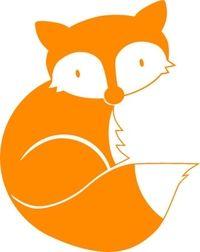 Fuchs aus *Dachs  Co.*, orange, Velours-Motiv zum Aufbügeln - PeppAuf.de