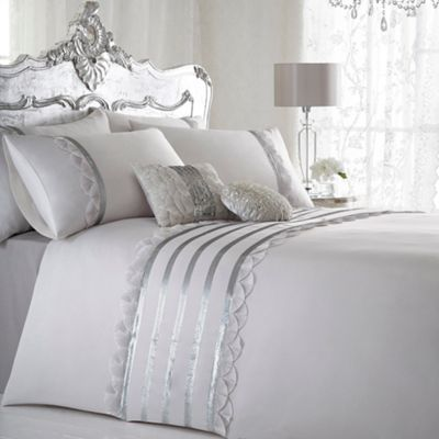 Star by Julien Macdonald Designer ivory 'Charleston' bed linen- at Debenhams.com - also debenahms bed & headboard