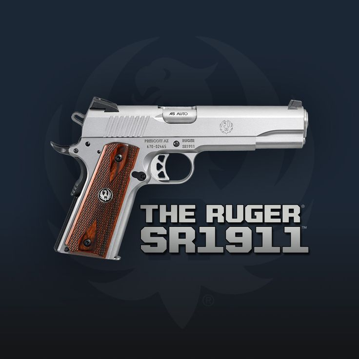 Ruger SR1911.  If you can't go wrong with a 1911... you can't do better than a Ruger.  Get yours today  @Sportsman's Outdoor Superstore #Firearm #Ruger