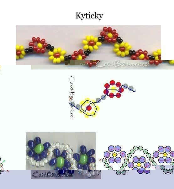 Kyticky Seed bead pattern