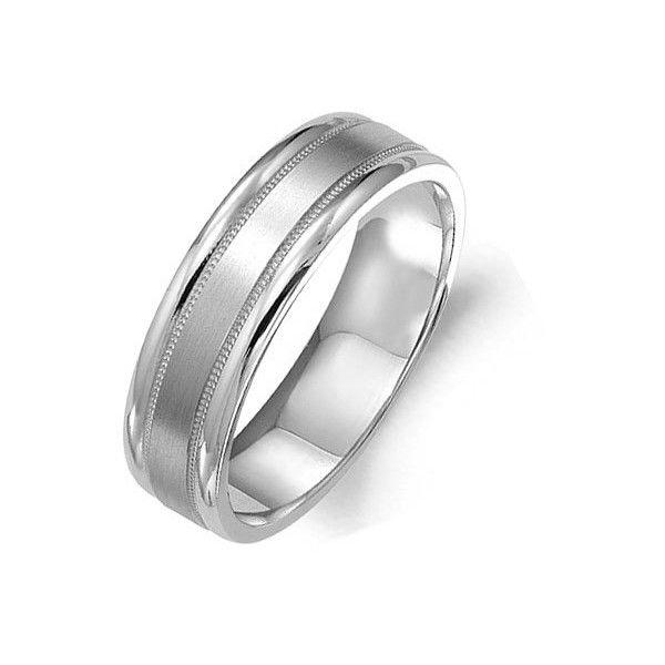 Platinum Double Milgrain 6mm Wide Flat Wedding Band Ring: Best 25+ Platinum Ring Men Ideas On Pinterest