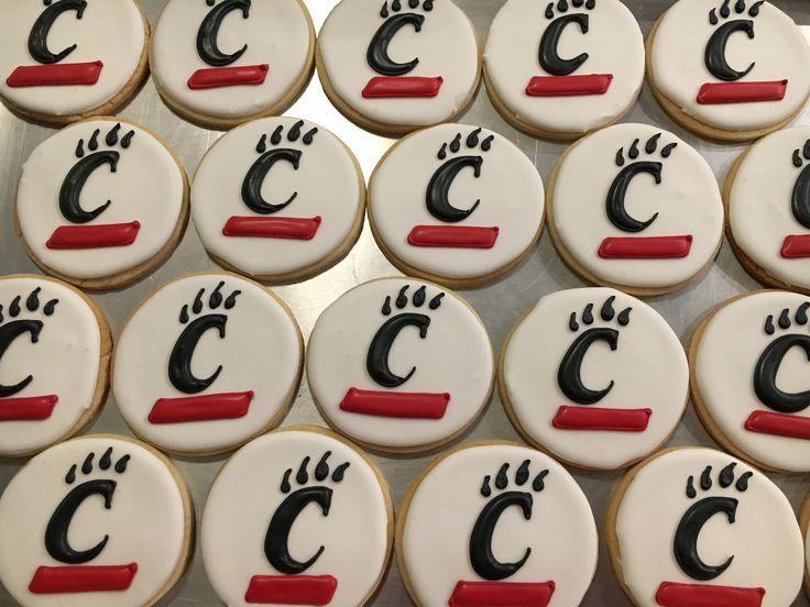 University of Cincinnati cookies that I made.
