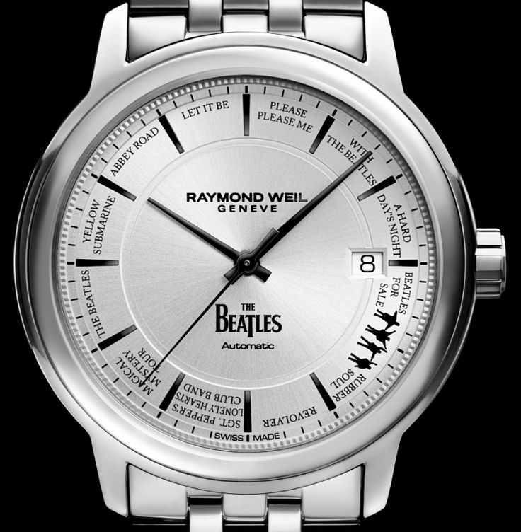 """Raymond Weil Maestro Beatles Limited Edition Watch - by Richard Cantley - can't buy me love, but I can buy me a Beatles watch! see more on aBlogtoWatch.com """"In anticipation of Baselworld 2016, Raymond Weil is announcing the release of a Beatles limited edition watch in the larger Maestro collection to commemorate the brand's 40th anniversary, as well as pay tribute to one of the world's greatest rock 'n' roll groups of all time..."""""""